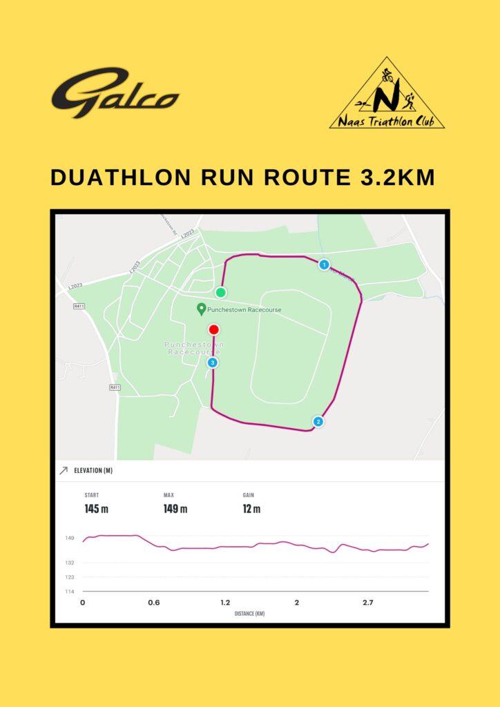 Duathlon run route